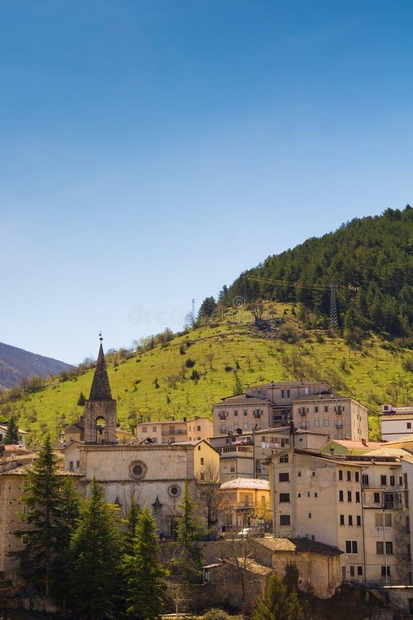 Средневековая деревня Scanno, Абруццо, Италия стоковое фото