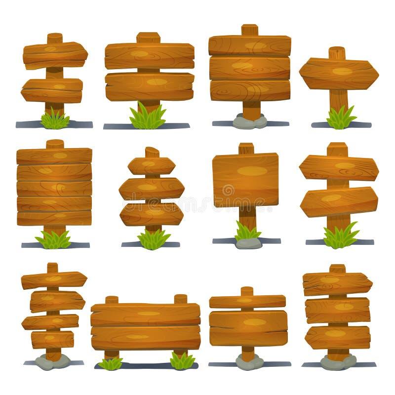 Средневековая деревянная смертная казнь через повешение шильдика изолировала таблетку доски дороги деревянную показывая иллюстрац бесплатная иллюстрация
