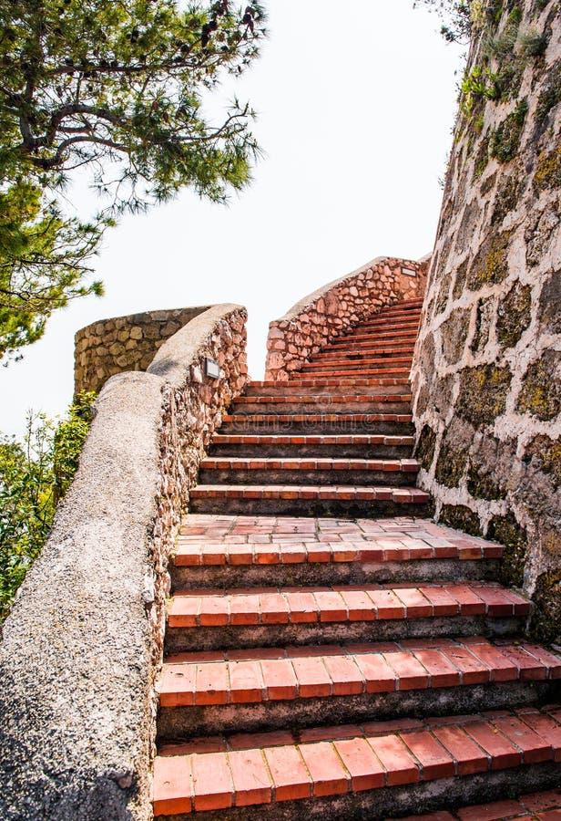 Средневековая лестница напольная стоковые изображения rf