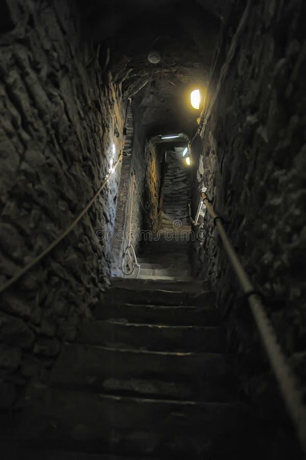 Средневековая каменная лестница стоковое фото rf