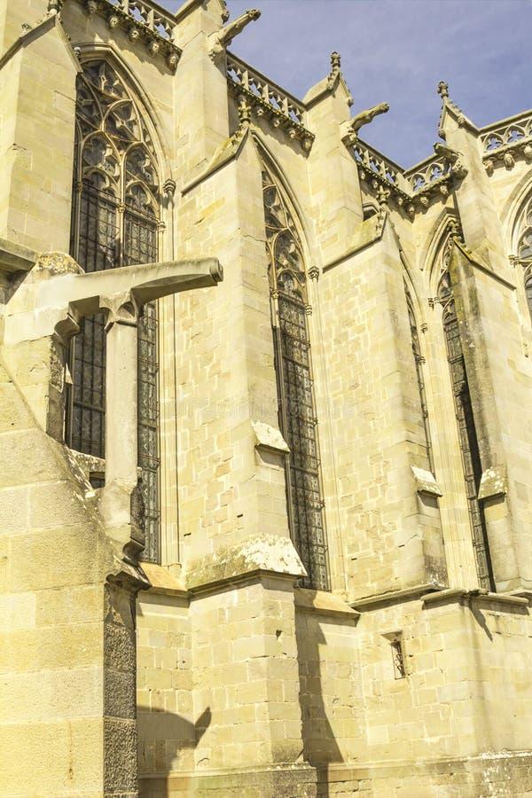Средневековая крепость Каркассона стоковые изображения rf