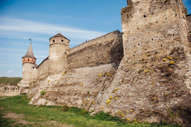Средневековая крепость Kamenetz-Podolsk Украина замка стоковое изображение rf