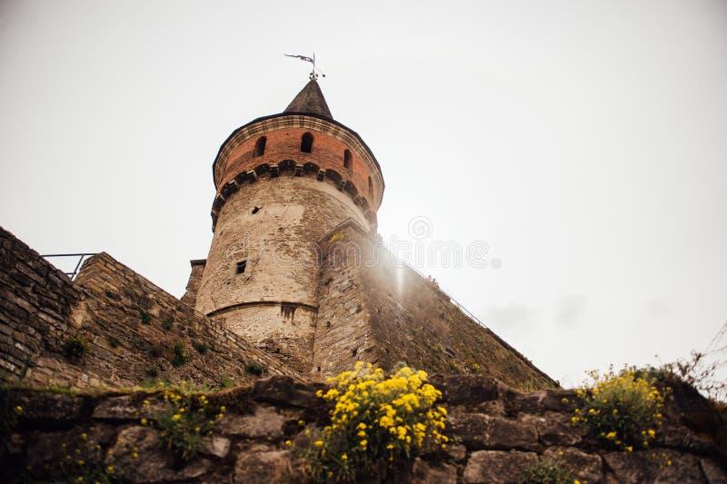 Средневековая крепость Kamenetz-Podolsk Украина замка стоковое фото