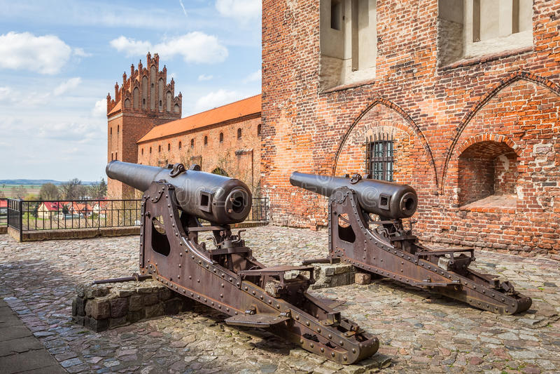 Средневековая оборона замка стоковые изображения rf