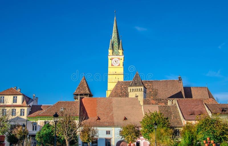 Средневековая церковь-крепость средств стоковые изображения