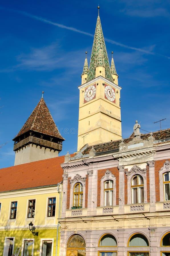 Средневековая церковь-крепость средств стоковое изображение