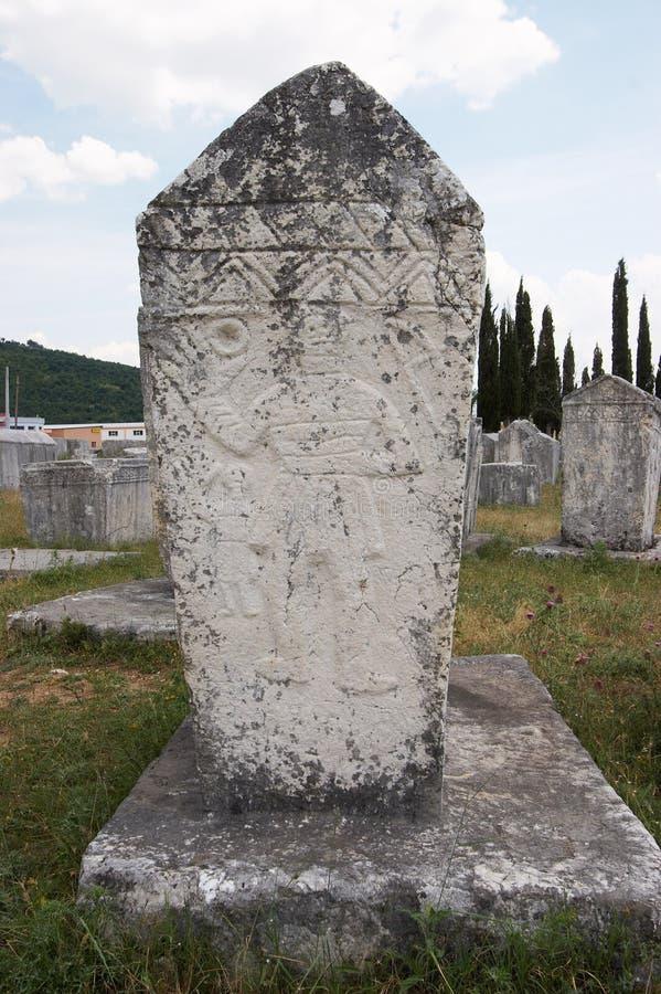 Средневековые надгробные плиты в Герцеговине стоковое изображение