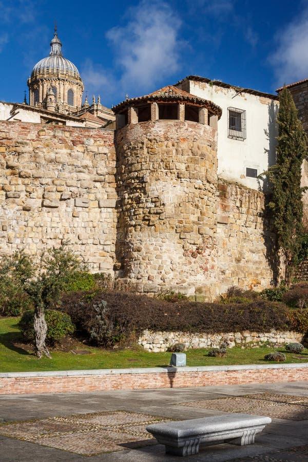 Средневековые стены города Саламанки стоковые изображения