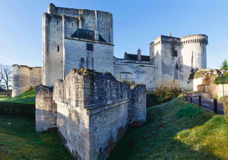 Средневековые стены Loches, Франции стоковое изображение