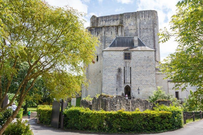 Средневековые стены Loches стоковые фото