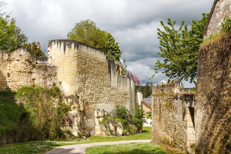Средневековые стены Loches стоковые изображения rf