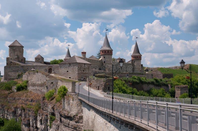 Средневековый замок в Kamenetz-Podolsk, Украине стоковое фото
