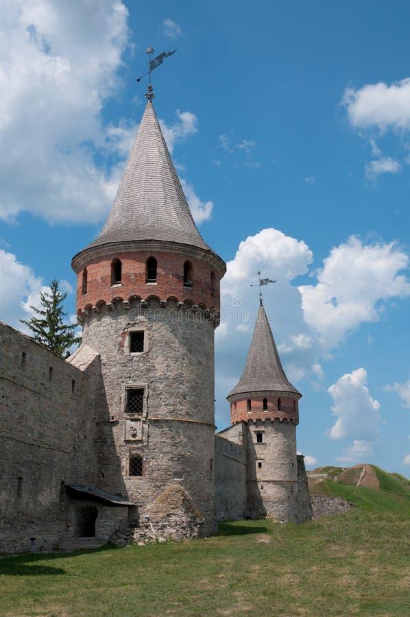 Средневековый замок в Kamenetz-Podolsk, Украине стоковые фотографии rf