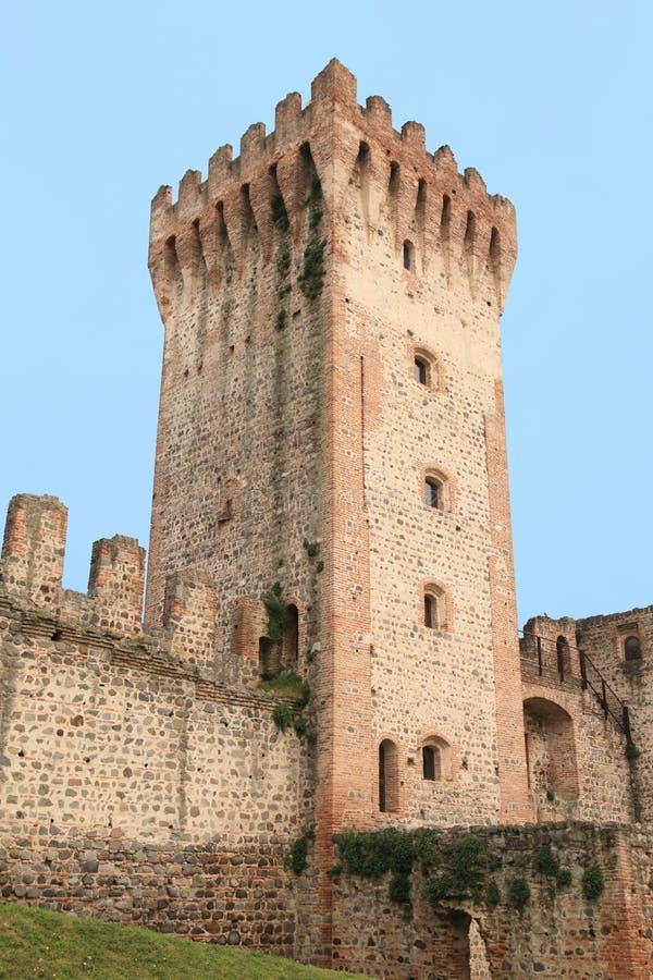 Средневековый замок Este стоковые изображения