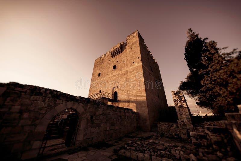 Средневековый замок Kolossi Район Лимасола, Кипр стоковое фото rf
