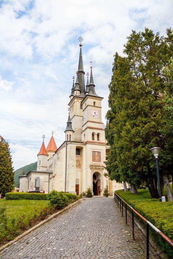 Средневековый монастырь в Румынии стоковые фотографии rf