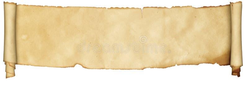 Средневековый перечень пергамента стоковое фото rf