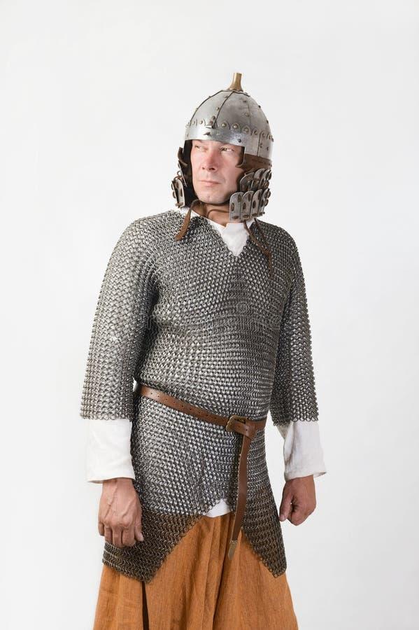 Средневековый ратник стоковое изображение rf