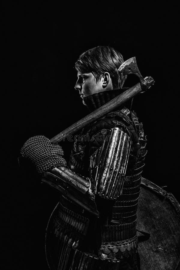 Средневековый ратник ` Kievan Руси стоковое изображение rf