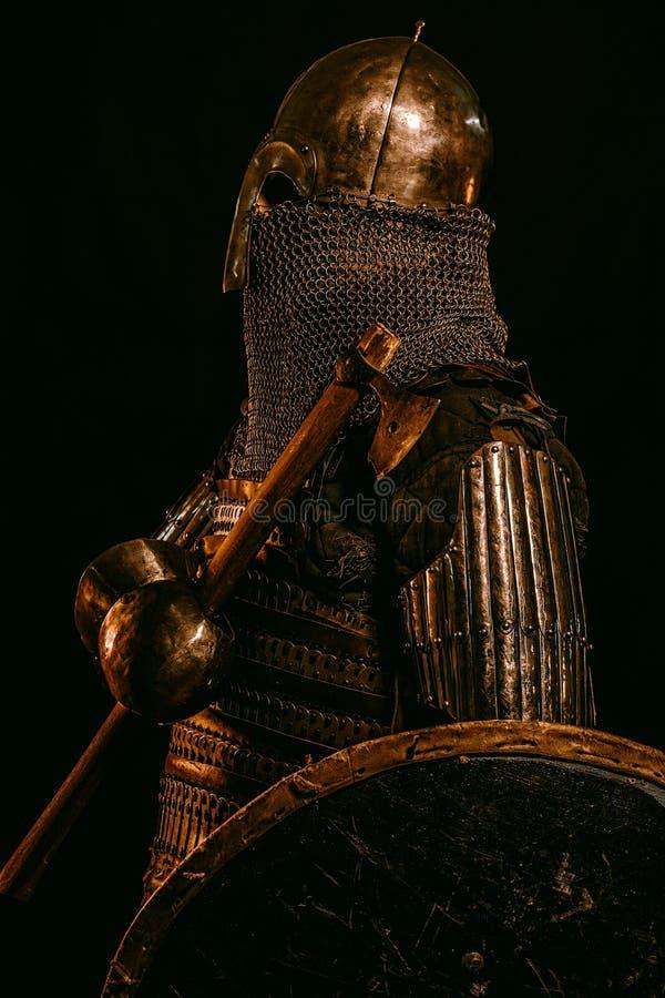 Средневековый ратник ` Kievan Руси стоковое изображение