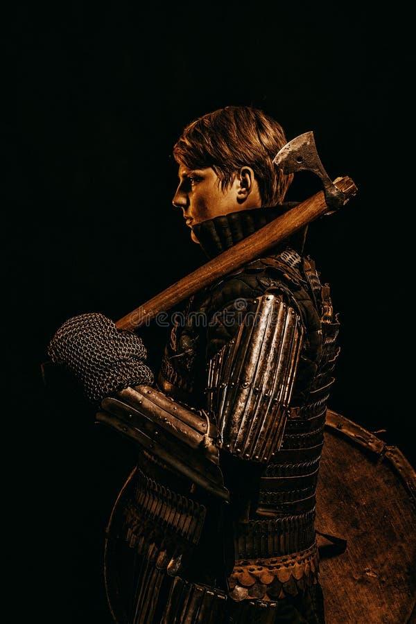 Средневековый ратник ` Kievan Руси стоковые изображения
