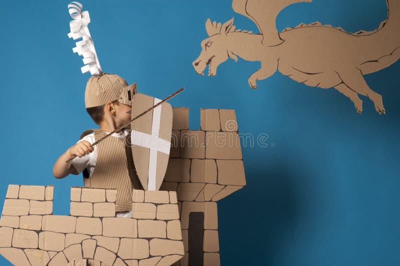 Средневековый ребенок рыцаря стоковая фотография