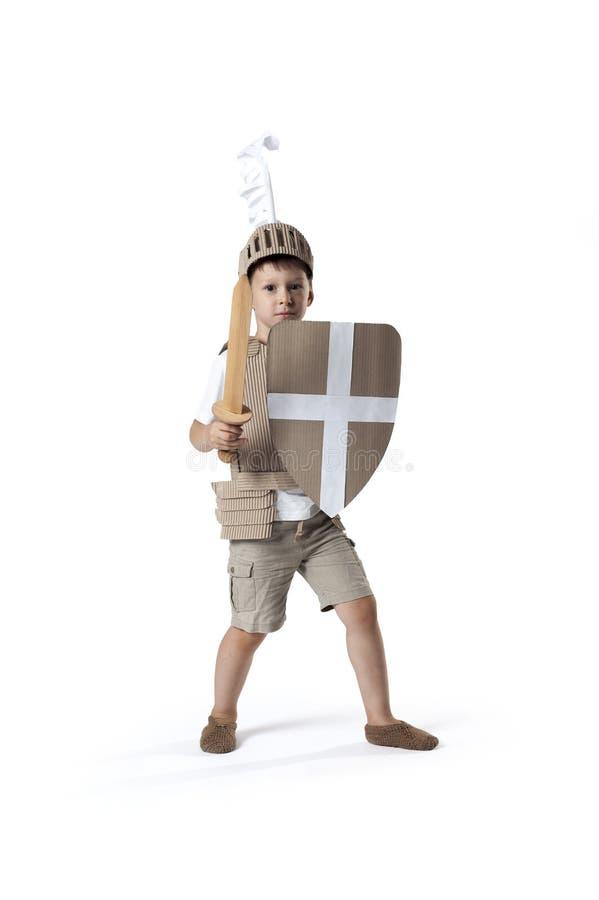 Средневековый ребенок рыцаря стоковое изображение