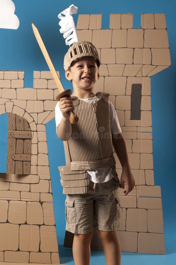 Средневековый ребенок рыцаря стоковые изображения