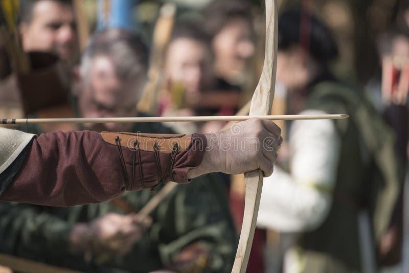 Средневековый смычок стоковая фотография rf