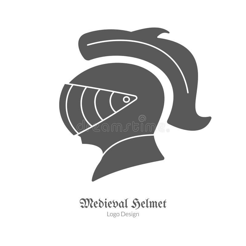 Средневековый шаблон эмблемы логотипа, черный простой стиль бесплатная иллюстрация