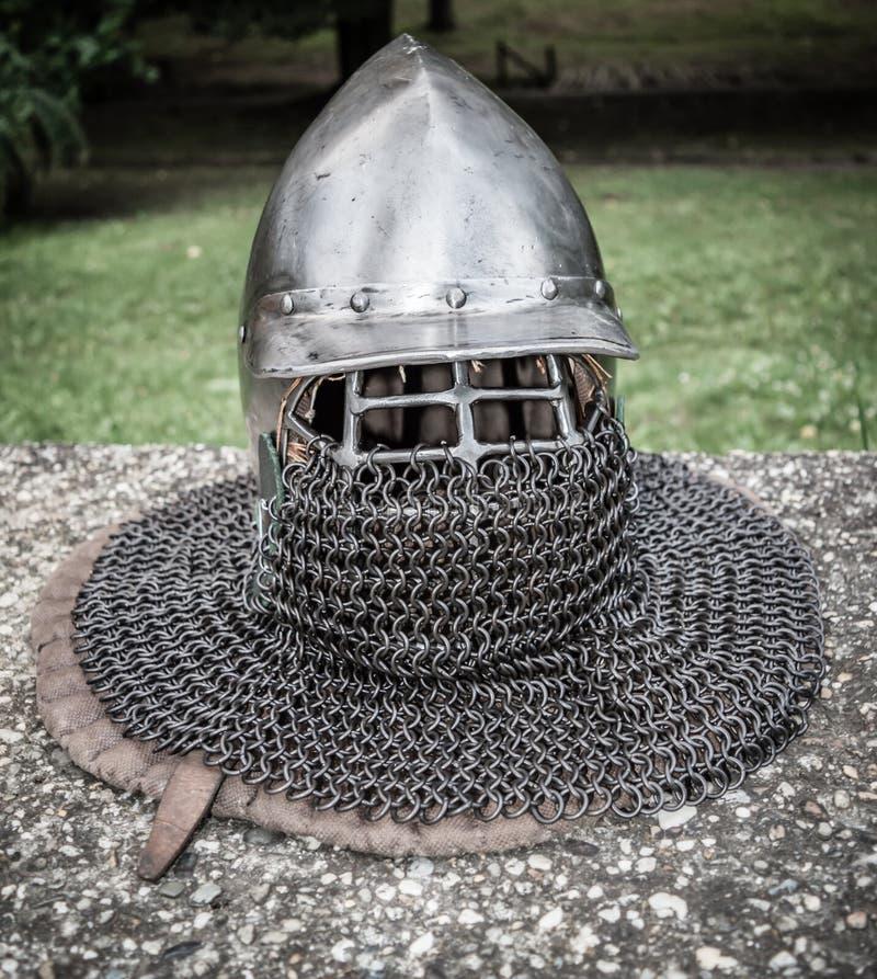 Средневековый шлем стоковое фото rf