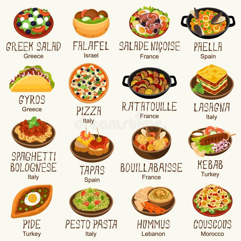 Среднеземноморская кухня бесплатная иллюстрация