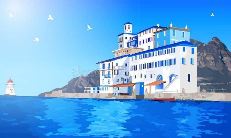 Среднеземноморской ландшафт бесплатная иллюстрация