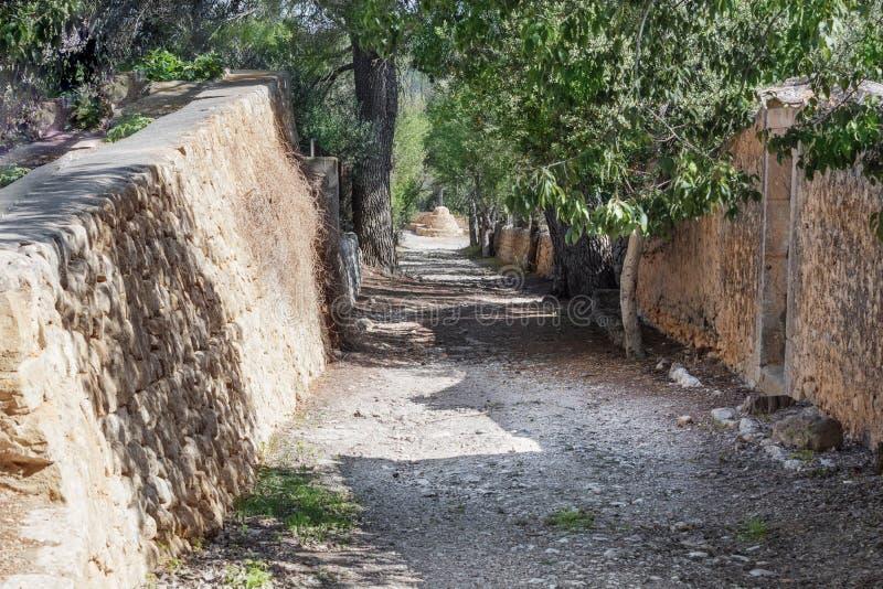 Среднеземноморской малый переулок стоковая фотография