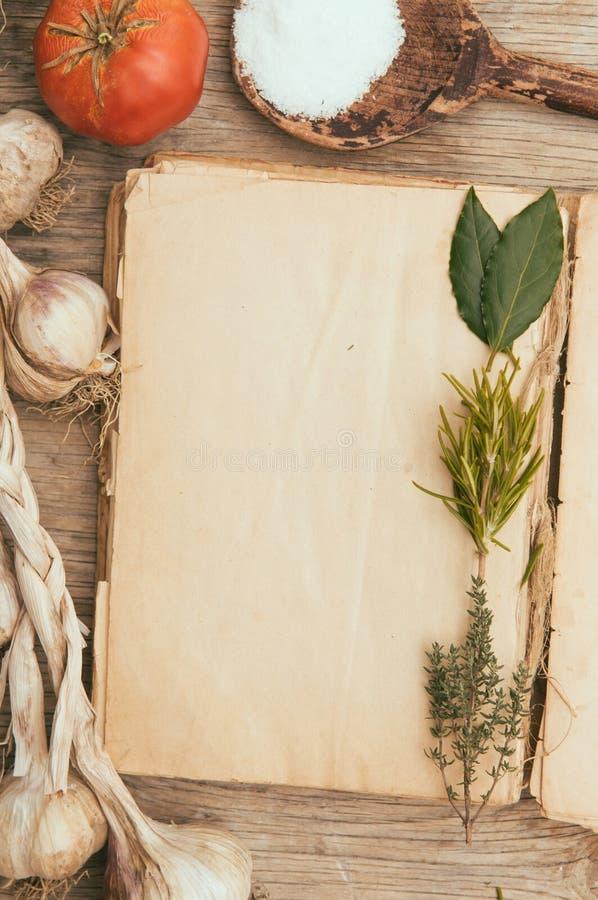 Среднеземноморской рецепт стоковое фото rf