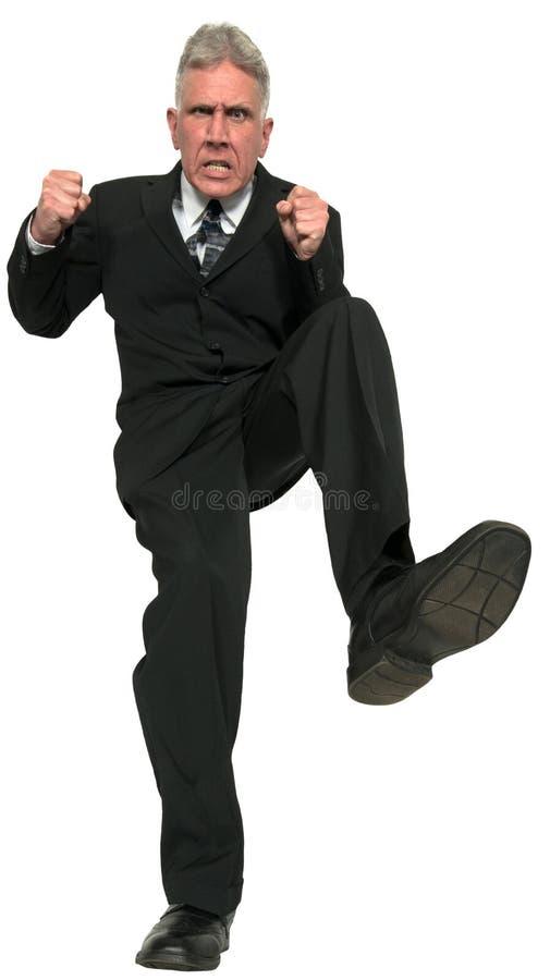 Средний сердитый главный исполнительный директор, изолированный босс, стоковое изображение