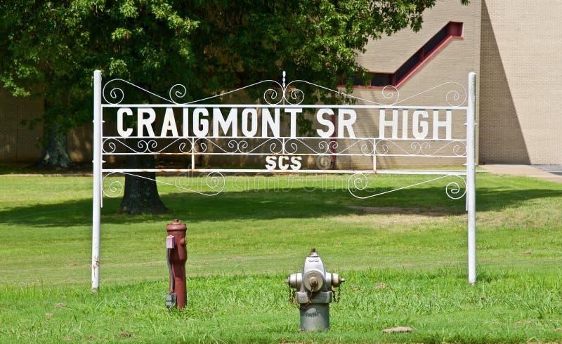Средняя школа Мемфис Craigmont старшая, Теннесси стоковая фотография rf