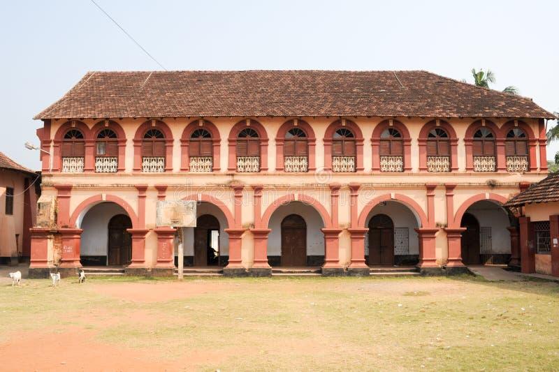 Средняя школа Santa Cruz на форте Cochin на Индии стоковое фото