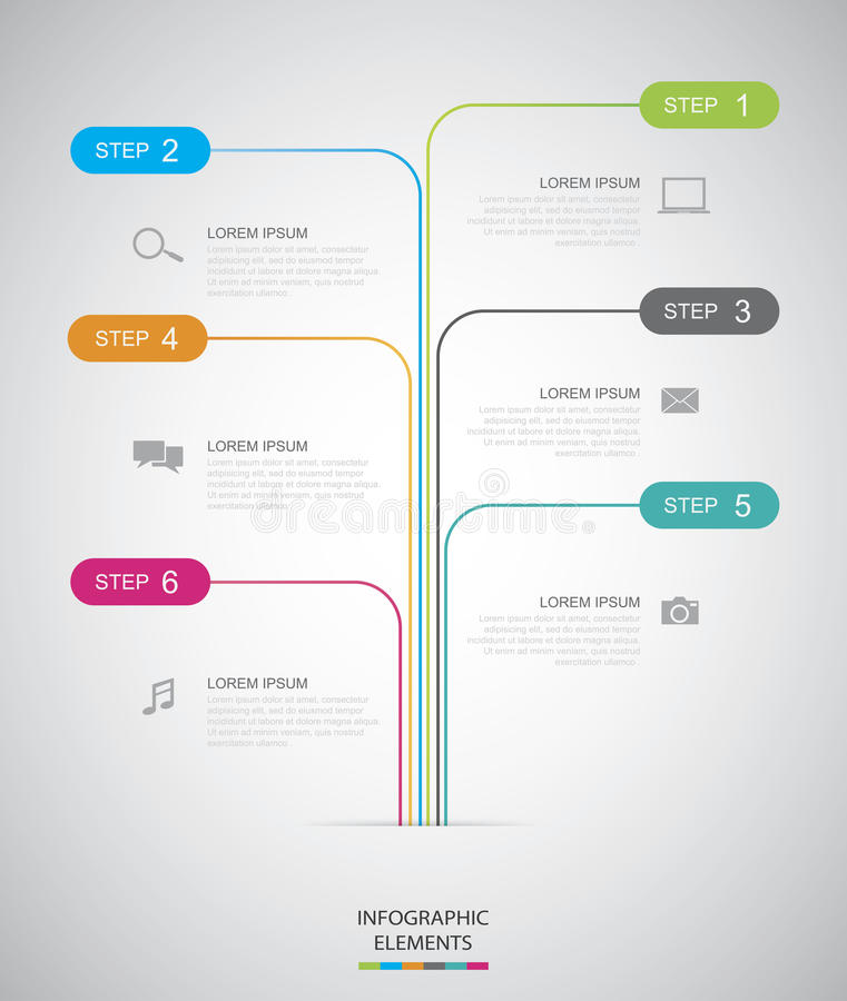 Срок Infographic иллюстрация вектора