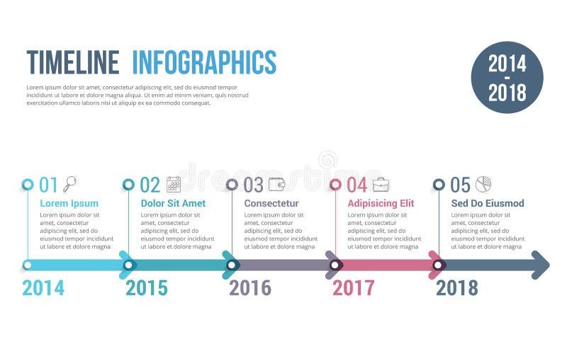 Срок Infographics иллюстрация вектора