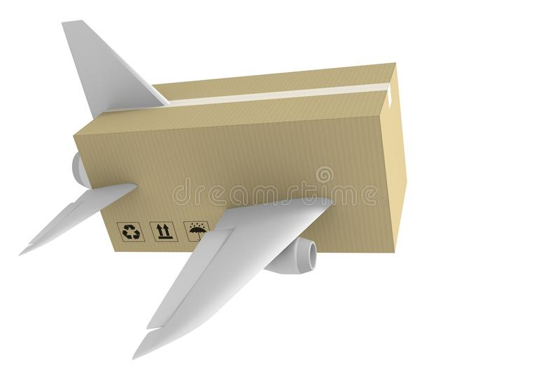 Срочная поставка воздушной почты и глобальная концепция доставки иллюстрация вектора