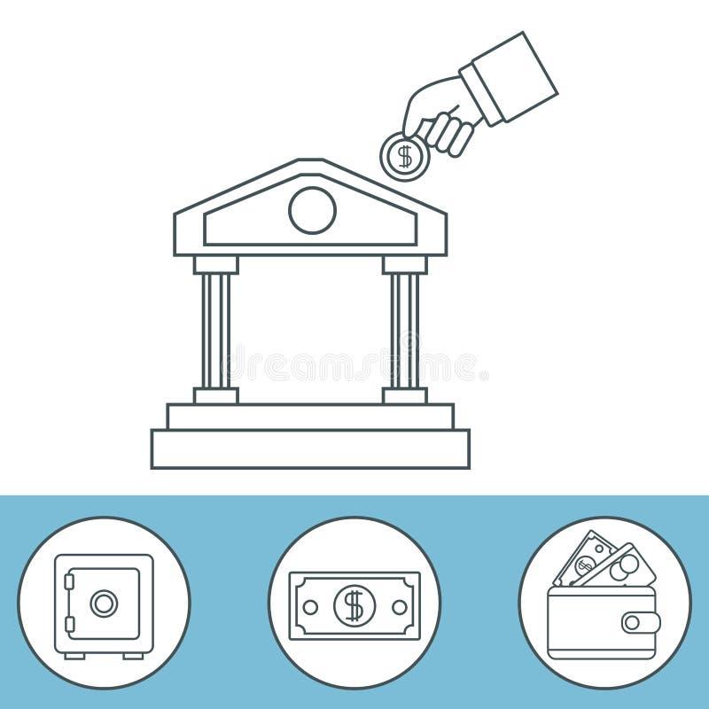 Срочный вкладной сертификат денег иллюстрация штока