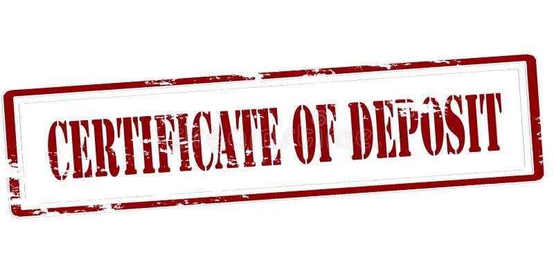 Срочный вкладной сертификат бесплатная иллюстрация