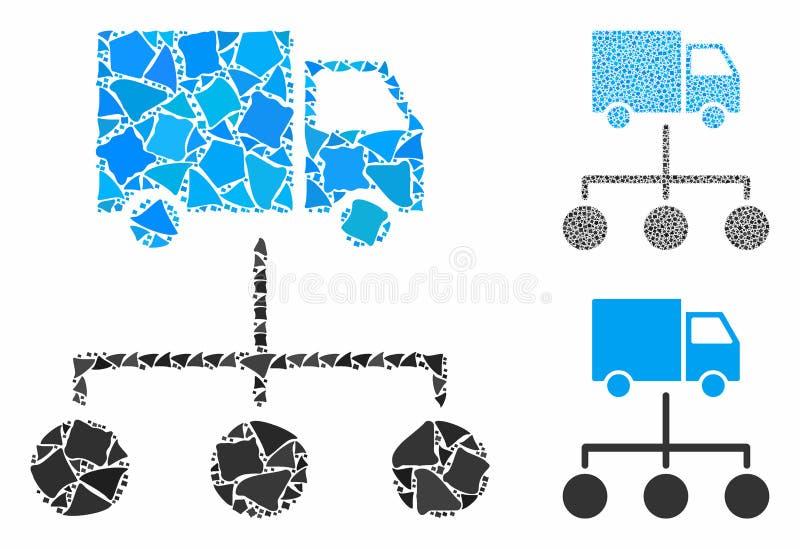 Ссылки на распределение грузовиков Композиция Значок предметов Humpy иллюстрация штока