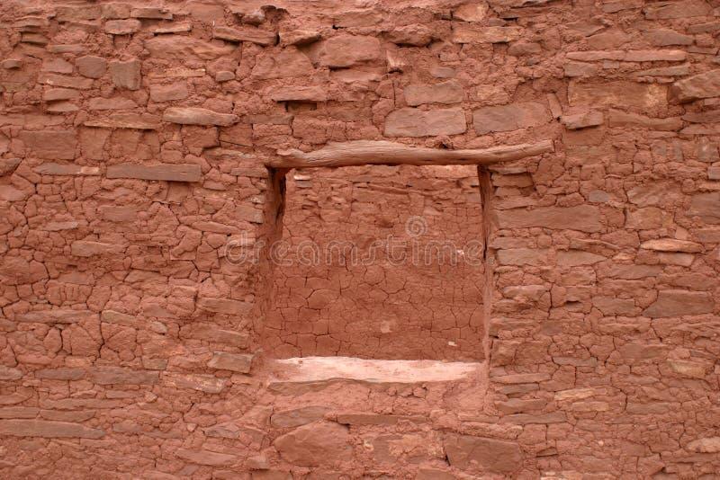 Стабилизированное окно, Пуэбло Abo, Неш-Мексико стоковое изображение rf