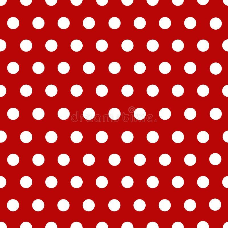 ставит точки белизна польки красная иллюстрация вектора