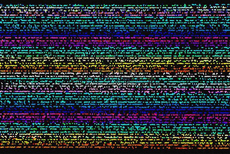 Ставит точки мозаика иллюстрация штока