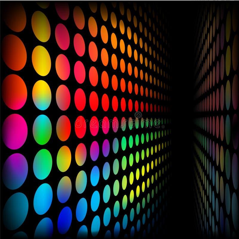 ставит точки стена радуги иллюстрация вектора