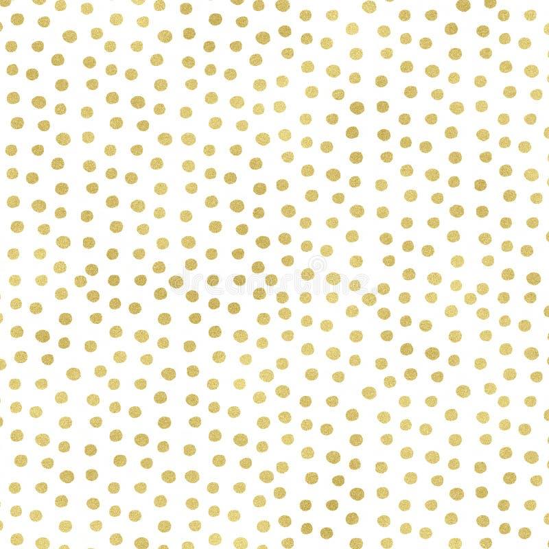 Ставит точки цифровая бумага, предпосылка точек золота, текстура Confetti иллюстрация вектора