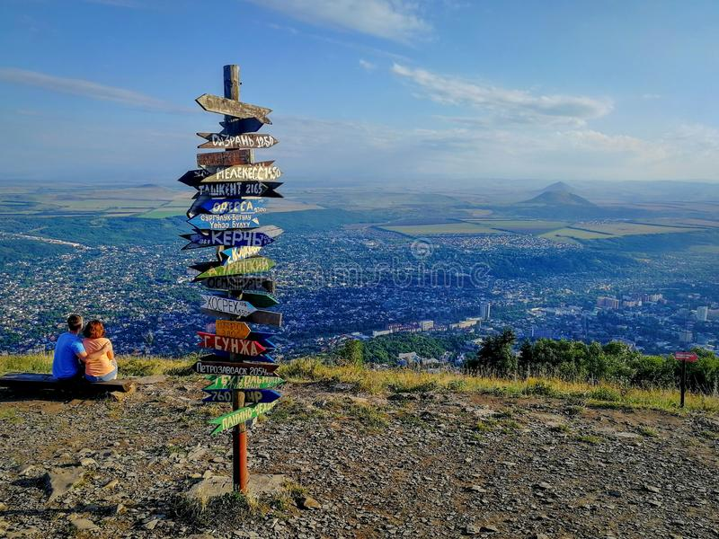 View from Mount Mashuk in Pyatigorsk royalty free stock photo